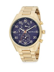English Laundry Goldtone Stainless Steel Bracelet Watch Gold Navy