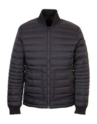 Orobos Long Sleeve Quilted Bomber Jacket Black