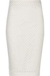 Elizabeth And James Aeon Mesh And Scuba Skirt White
