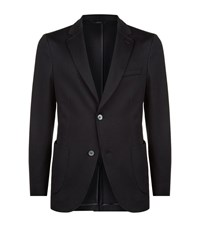Brioni Silk And Cotton Knit Jacket Male Navy