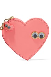 Sophie Hulme Stanley And Flo Embellished Leather Keychain Pink