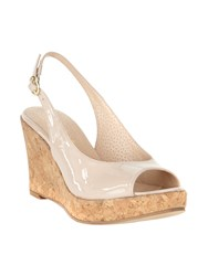 Phase Eight Daisy Leather Wedge Shoes Neutral