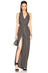 Rick Owens Cady Limo Wrap Dress In Gray