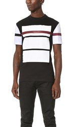 Mcq By Alexander Mcqueen Colorblock Tee Darkest Black