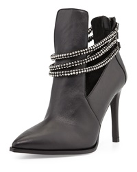 Luxury Rebel Sienna Leather Bootie Black
