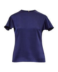 Ted Baker Xylo Frilled Sleeve Top Blue