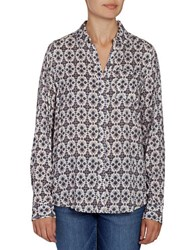 Jag Roan Printed Relaxed Fit Shirt Cream