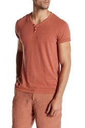 Lucky Brand Salt Point Y Neck Henley Red