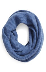 Halogenr Women's Halogen Knit Cashmere Infinity Scarf Blue Medium Heather