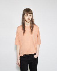 Alexander Wang Drop Shoulder Tee Orange