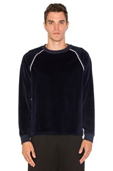Opening Ceremony Velour Raglan Sweatshirt Blue