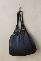Anthropologie Twilight Dipped Tote Navy