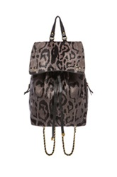 Jerome Dreyfuss Florent Backpack In Animal Print Gray