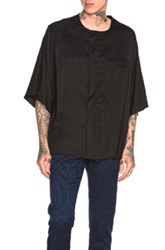 Haider Ackermann Short Sleeve Shirt In Black