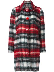 Alcoolique Plaid Single Breasted Coat Red