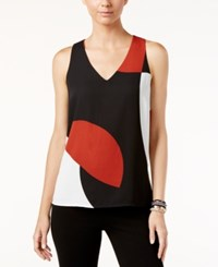 Inc International Concepts Sleeveless Colorblocked Top Only At Macy's Dancing Geo