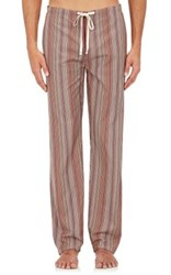 Paul Smith Men's Striped Cotton Pajama Pants No Color