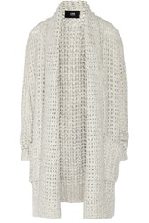 Line Barclay Open Knit Cardigan White