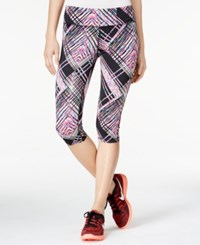 Material Girl Active Juniors' Printed Cropped Leggings Only At Macy's Shattered Stripe