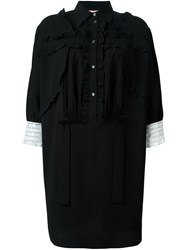 N 21 No21 Lace Trim Shirt Dress Black