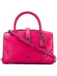 Coach 'Mercer' Tote Pink Purple