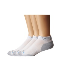 Drymax Sport Running Lite Mesh Mini Crew 3 Pair Pack White Grey Low Cut Socks Shoes