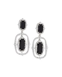 Judith Ripka Sophia Black Onyx Double Drop Earrings