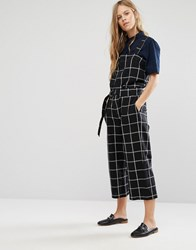 Shades Of Grey Checked Utility Jumpsuit Black