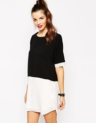 Daisy Street 2 In 1 Shirt Dress With Crop Overlay Multi