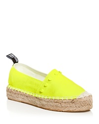Love Moschino Espadrille Flats Heart Stud Yellow
