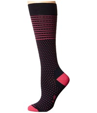 Icebreaker Lifestyle Fine Gauge Ultra Light Over The Calf Amelia Admiral Pop Pink Women's Crew Cut Socks Shoes Black