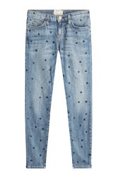 Current Elliott Star Printed Skinny Jeans Blue