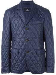 Hackett Printed Quilted 'Ted' Blazer Blue