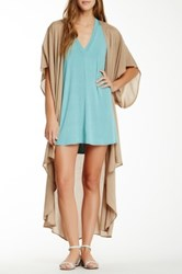 Riller And Fount Open Front Kimono Cardigan Beige
