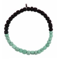 Men In Cities Two Tone Bead Bracelet Seafoam And Black