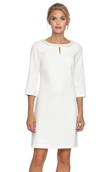 Women's Tahari Embellished Neck Woven Sheath Dress Ivory