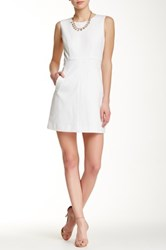 Diane Von Furstenberg Carpreena Ponte Mini Dress White