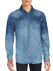 Buffalo David Bitton Long Sleeve Denim Shirt Bleach Blue