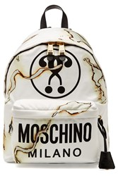 Moschino Printed Fabric Backpack Multicolor