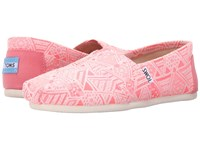 Toms Seasonal Classics Pink Neon Tribal Women's Slip On Shoes
