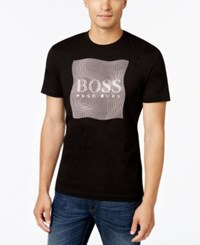 Hugo Boss Green Men's Graphic Print Logo T Shirt Black