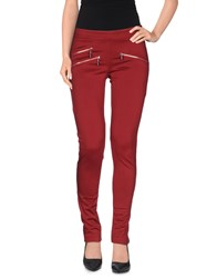 Yes Zee By Essenza Trousers Casual Trousers Women Maroon
