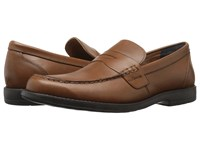 Nunn Bush Appleton Moc Toe Penny Loafer Saddle Tan Men's Slip On Dress Shoes Brown