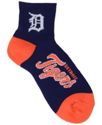 For Bare Feet Detroit Tigers Ankle Tc 501 Med Socks Navy Orange