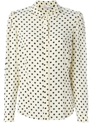 Red Valentino Polka Dot Shirt Nude And Neutrals