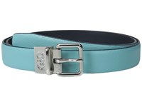 Cole Haan 25Mm Reversible Feather Edge Belt Aqua Blue Women's Belts Multi