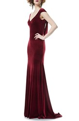 Theia Women's Velvet Mermaid Gown