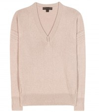 Burberry Cashmere And Cotton Blend Sweater Beige