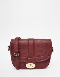 Marc B Raf Cross Body Bag Burgundy