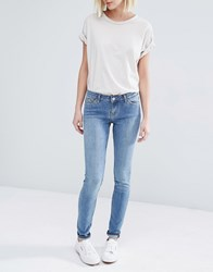 Weekday Saturday Low Waist Skinny Jeans Hyman Blue